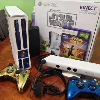 Xbox 360 Slim Starwars Limited + Kinect