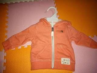 Jaket Baby olive 0-4 month