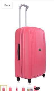 Lojel pink hard case luggage