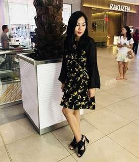 Floral Chiffon Dress zalor