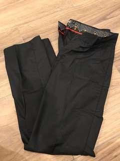 Men's Black Business Formal Long Pants