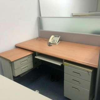 L型辦公桌 150 乘70 側桌45乘90