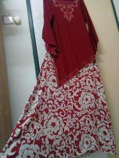 Maroon Top & Skirt #MMAR18