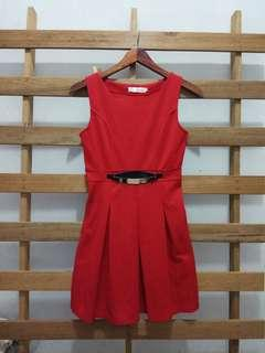 Red Korean dress
