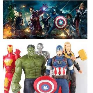 Marvel Legends Avengers Figurines Iron Man, Captain America, Incredible Hulk and Thor (With sound and speech)
