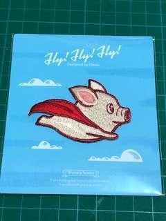 Superpig ironing embroidery sticker