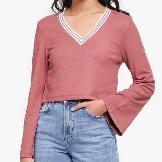 Dusty pink Crop top
