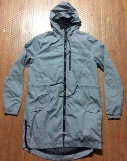 H&M Divided long Windbreaker Jacket Women Authentic