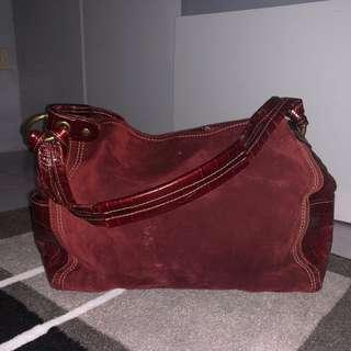 Fossil Maroon Bag