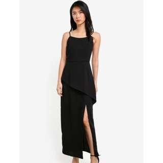 1e34df85a1 Black Halter Dress Plain simple work office neck dress work Skater ...