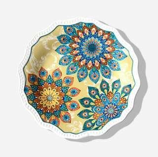Ceramic Floral-pattern Plate