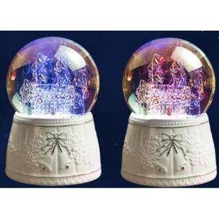 Crystal Music Box (Rotating, raining snowflakes with 7 colour LED lights) MP3 Bluetooth SD card Sound Bar