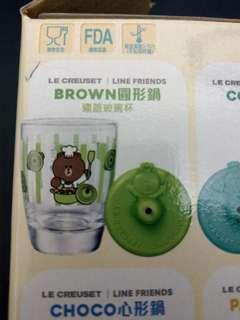 Line Brown玻璃杯