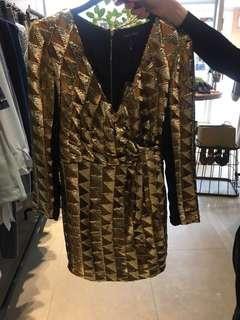 CHLOE CHEN 購買法國品牌April May 亮片復古洋裝 春酒喜酒尾牙 $1500