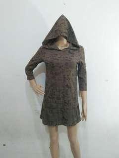 PRELOVED DRESS HOODIE MURAH OLIVE