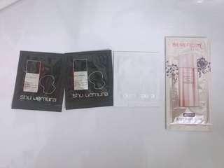 🚚 Shu uemura 粉底液 防護乳 試用包