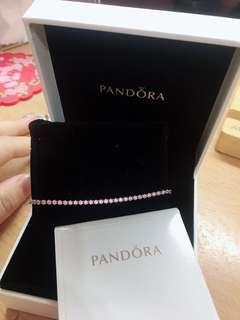 Pandora 潘朵拉粉色手鍊