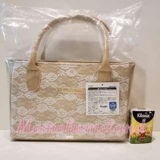 ♕25cm吉蒂貓哩士(蕾絲)手袋-杏色/Sanrio Hello Kitty Lace Bag-Apricot♕