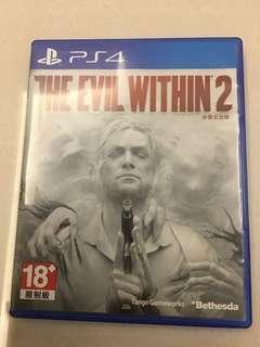 PS4 邪靈入侵 2 evil within II 中文版 光碟無刮   中文 eng English 合版