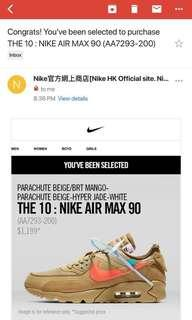 the ten nike air max 90 x off white換9.5黑色