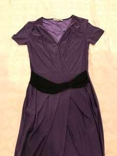Fond Purple Dress