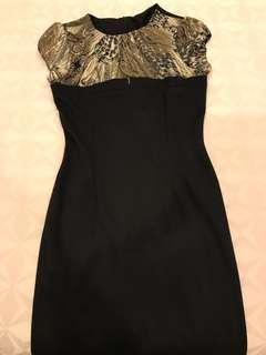 Unichic Urbam black printed dress