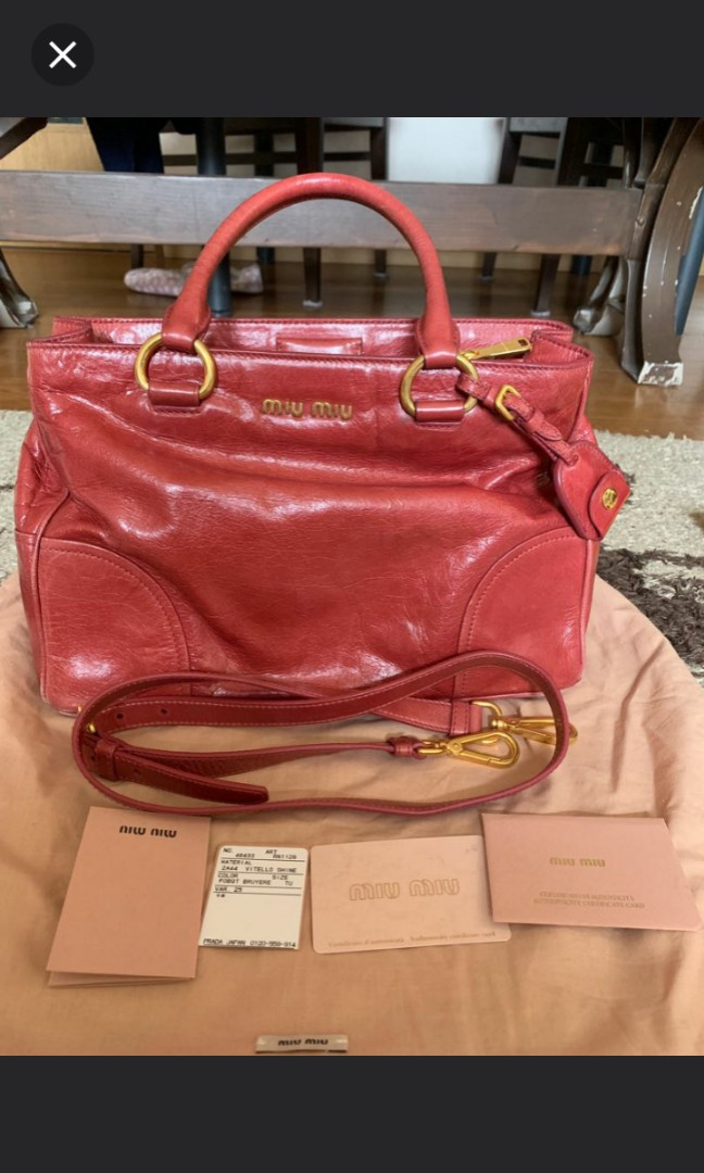 b8911fb5afea Authentic Miu Miu bag