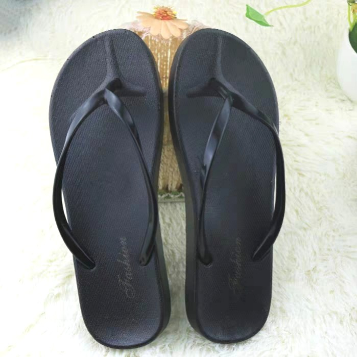 21ac1a77442 Basic Flip Flop Black Fashion Slippers For Ladies
