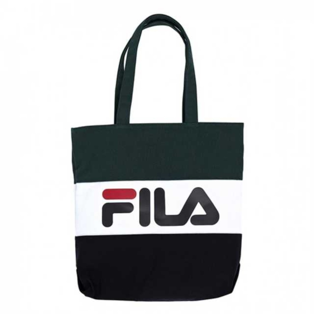 BN Green Authentic Fila Tote bag 🐧  FREE SHIPPING  🐧 6059eaa038878