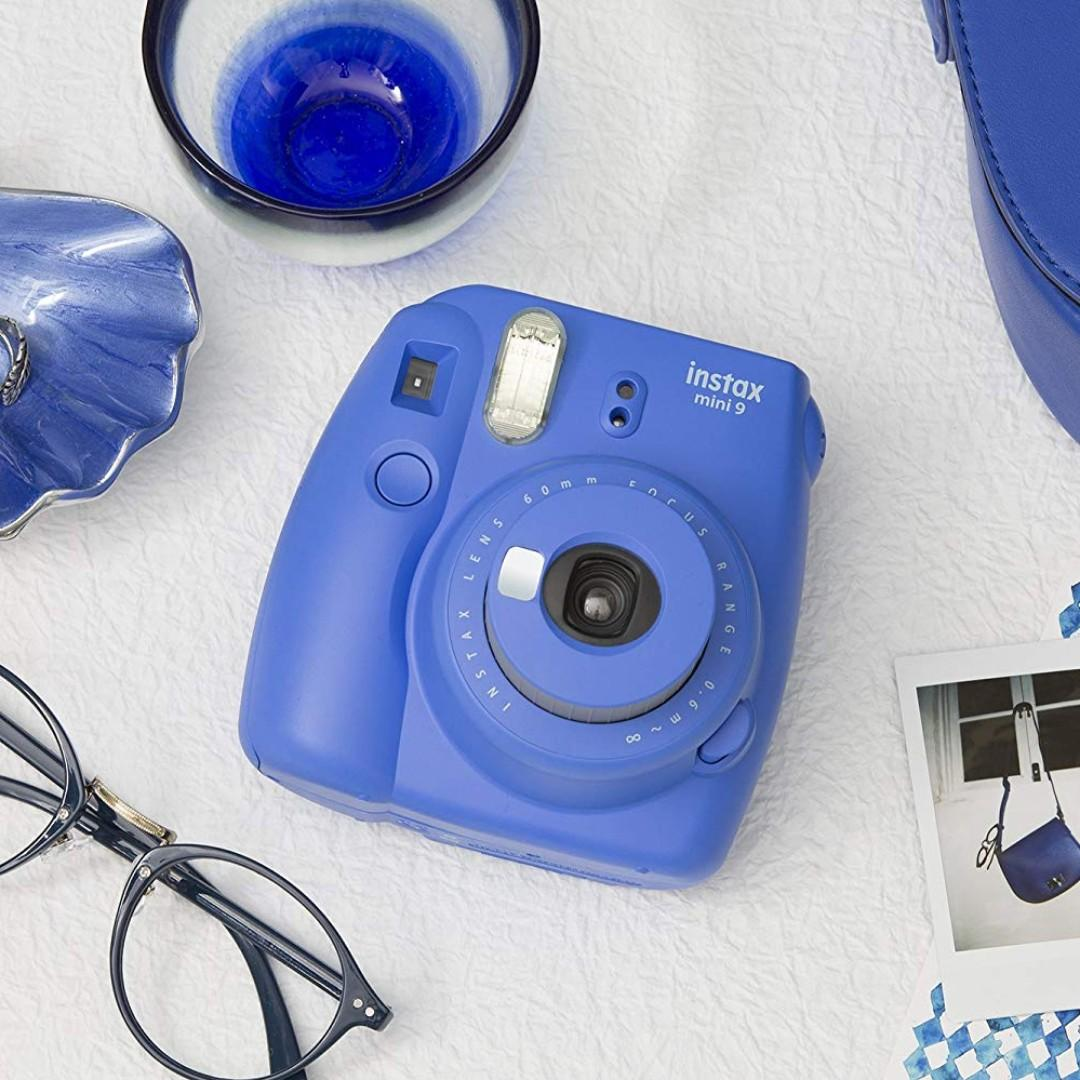 BNIB Fujifilm Instax Mini 9 Instant Camera - Cobalt Blue