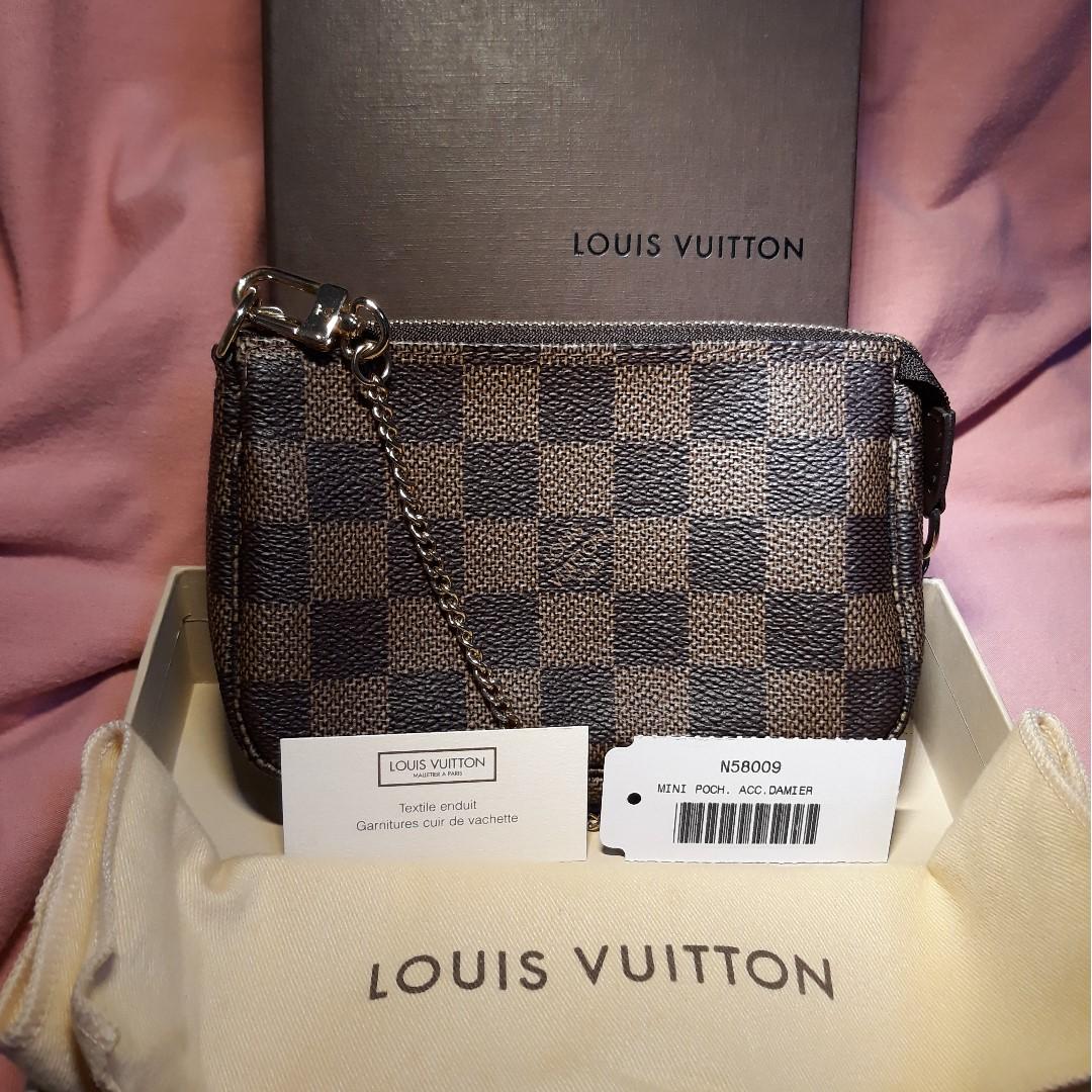 Brand New Lv Damier Pochette Accessories Mini Luxury Bags