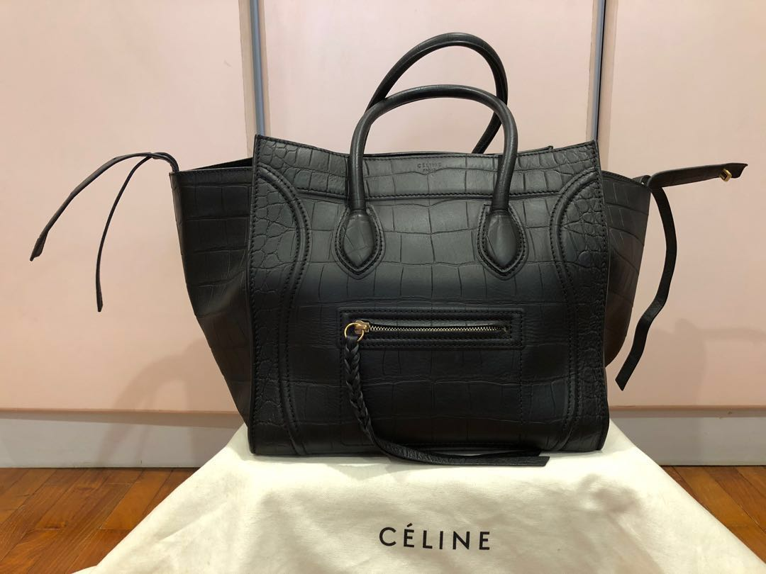 Celine Phantom Croc embossed bag a379c4a78f20d