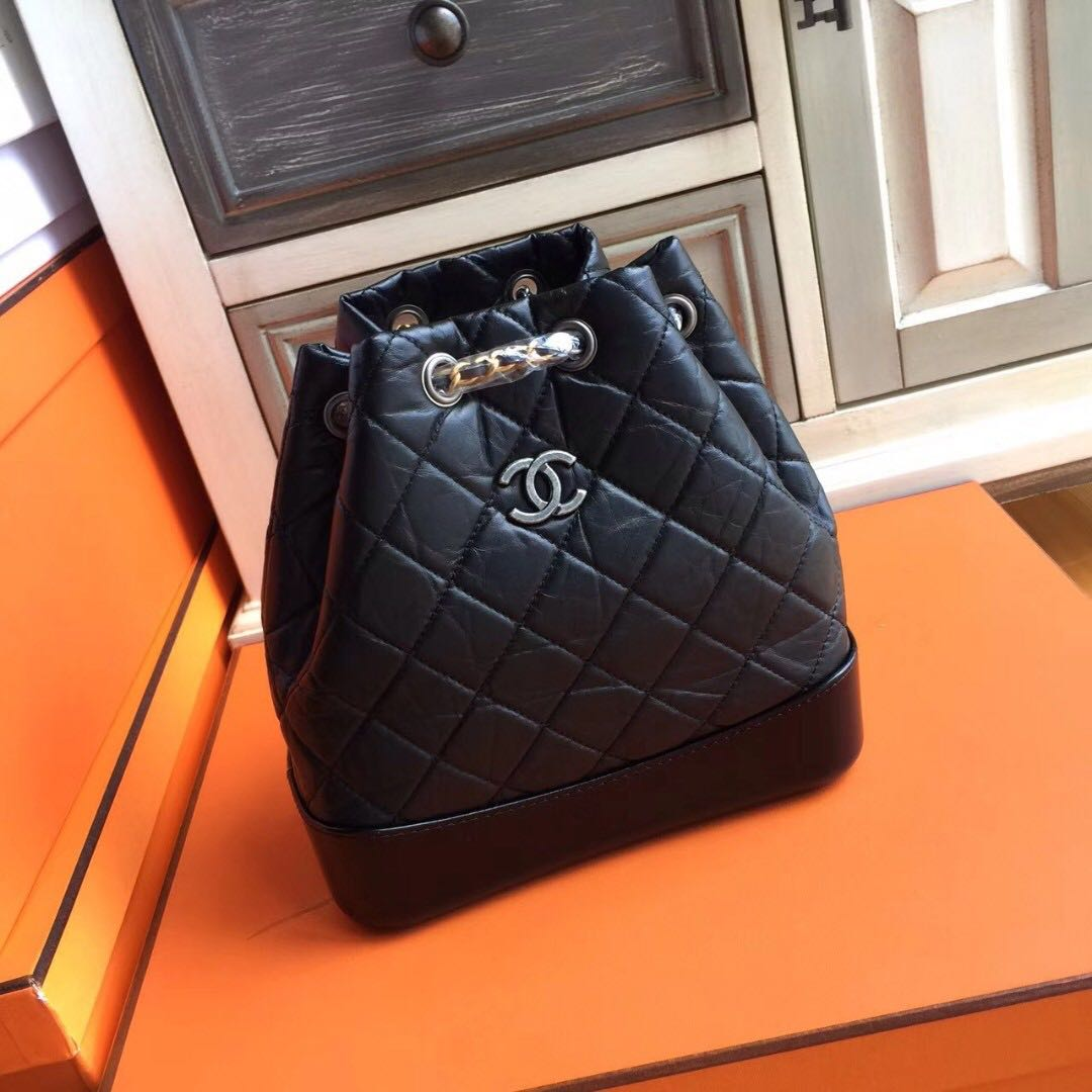36c8a86d64ca Chanel GABRIELLE Backpack Black A94485, Luxury, Bags & Wallets on ...