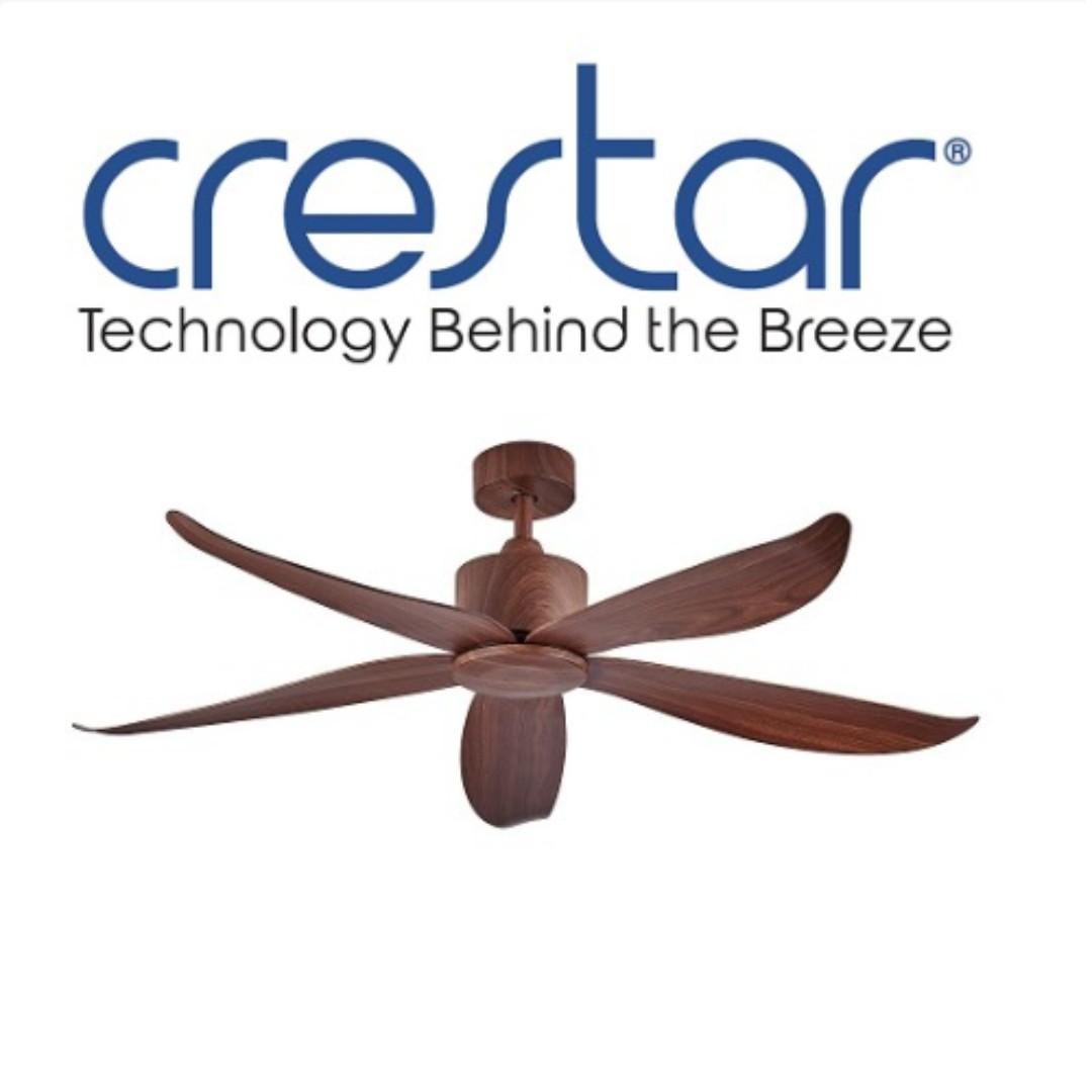 CRESTAR VALUEAIR 48 INCH 5 BLADE CEILING FAN WITH REMOTE CONTROL