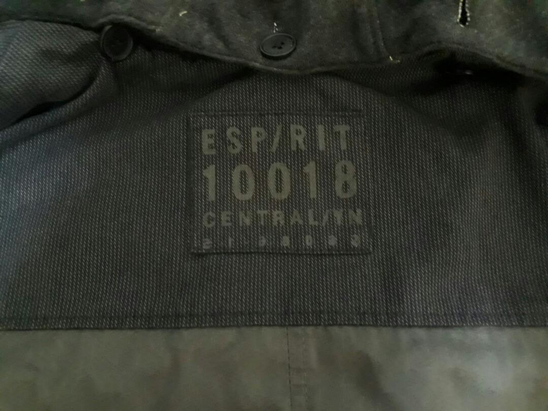 ESPRIT 深 灰色 連帽(可拆) 西裝外套 軍裝外套