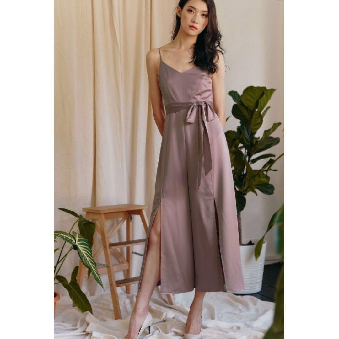 d43ca2c46275 Fashmob michel satin jumpsuit in mauve pink womens fashion jpg 1080x1080  Mauve women satin jumpsuit