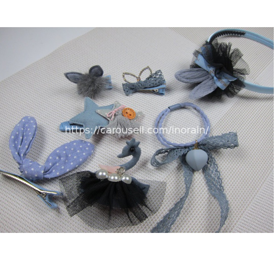 Girls Birthday Gift Swan Hair Accessories Set Hairband Headband Hair