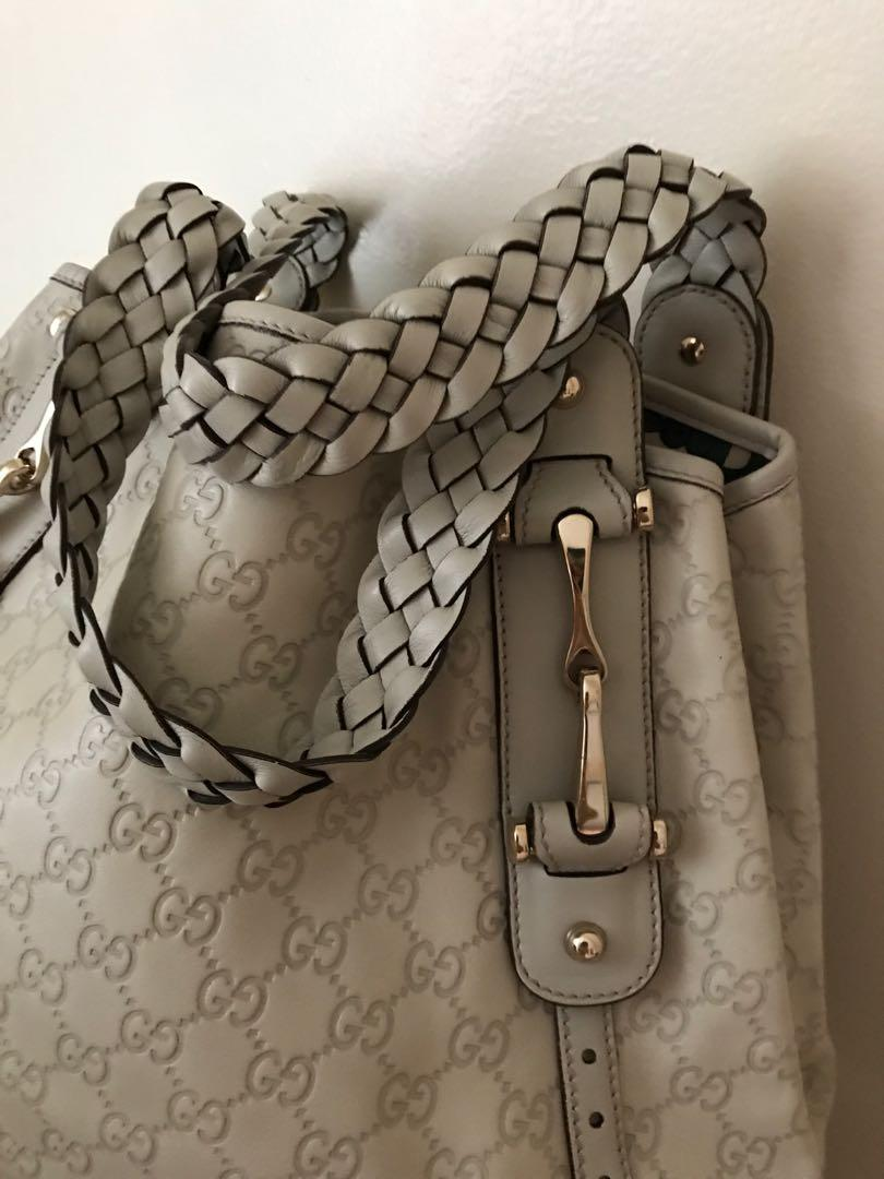 GUCCI White Guccissima Leather Medium Pelham Shoulder Bag