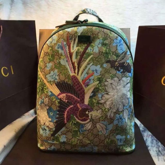 Gucci XI Gg Floral Backpack Men