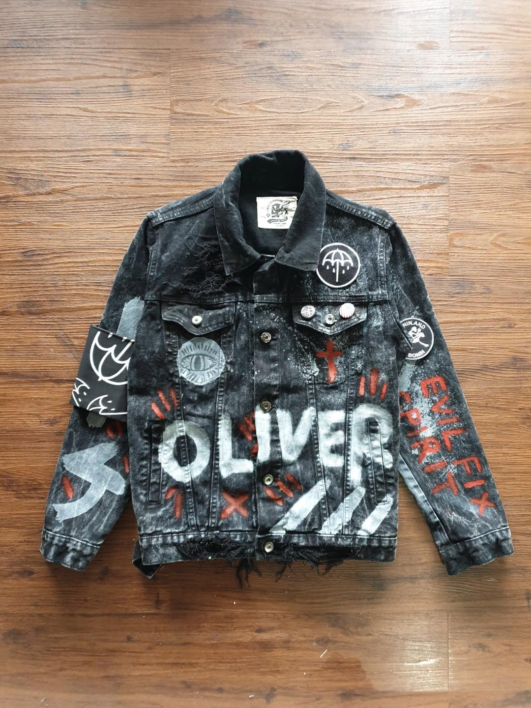 76+ Gambar Jaket Jeans Oliver Sykes Kekinian
