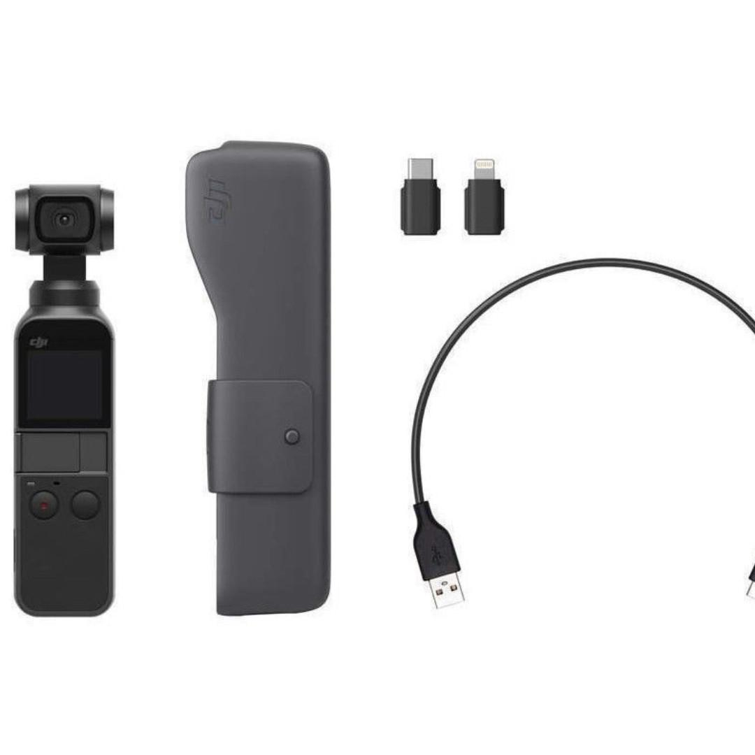 Larger Display DJI Osmo Pocket 3 Axis Gimbal Stabilizer Connects to phone