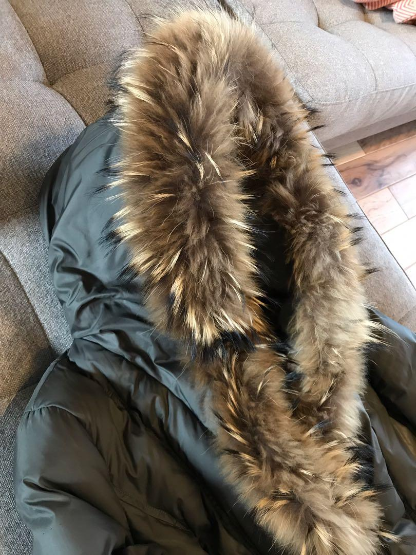 Mackage size M adali down fur leather winter jacket coat