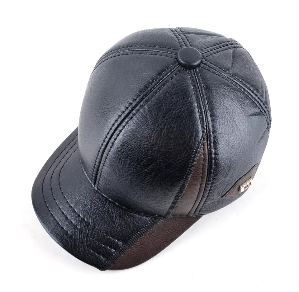 878ba454a4a545 Mens winter leather cap warm hat baseball caps with ear flaps adjustable,  Men's Fashion, Accessories, Caps & Hats on Carousell