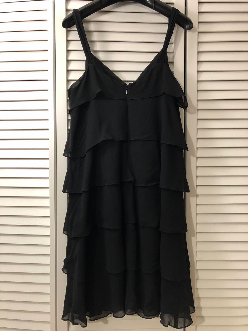 Mexx black chiffon cocktail dress - size medium (38) - purchased in Europe!