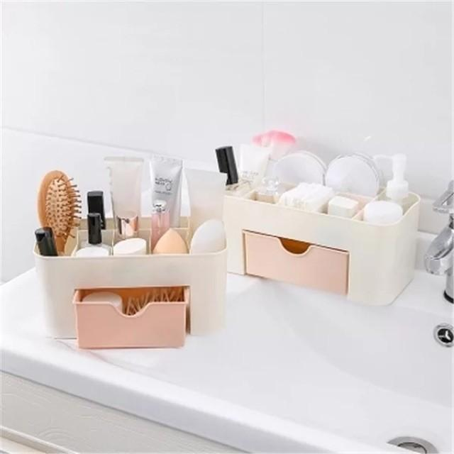 Multi-Function 6 Grid Make up Strorage Box Organizer Container Case.
