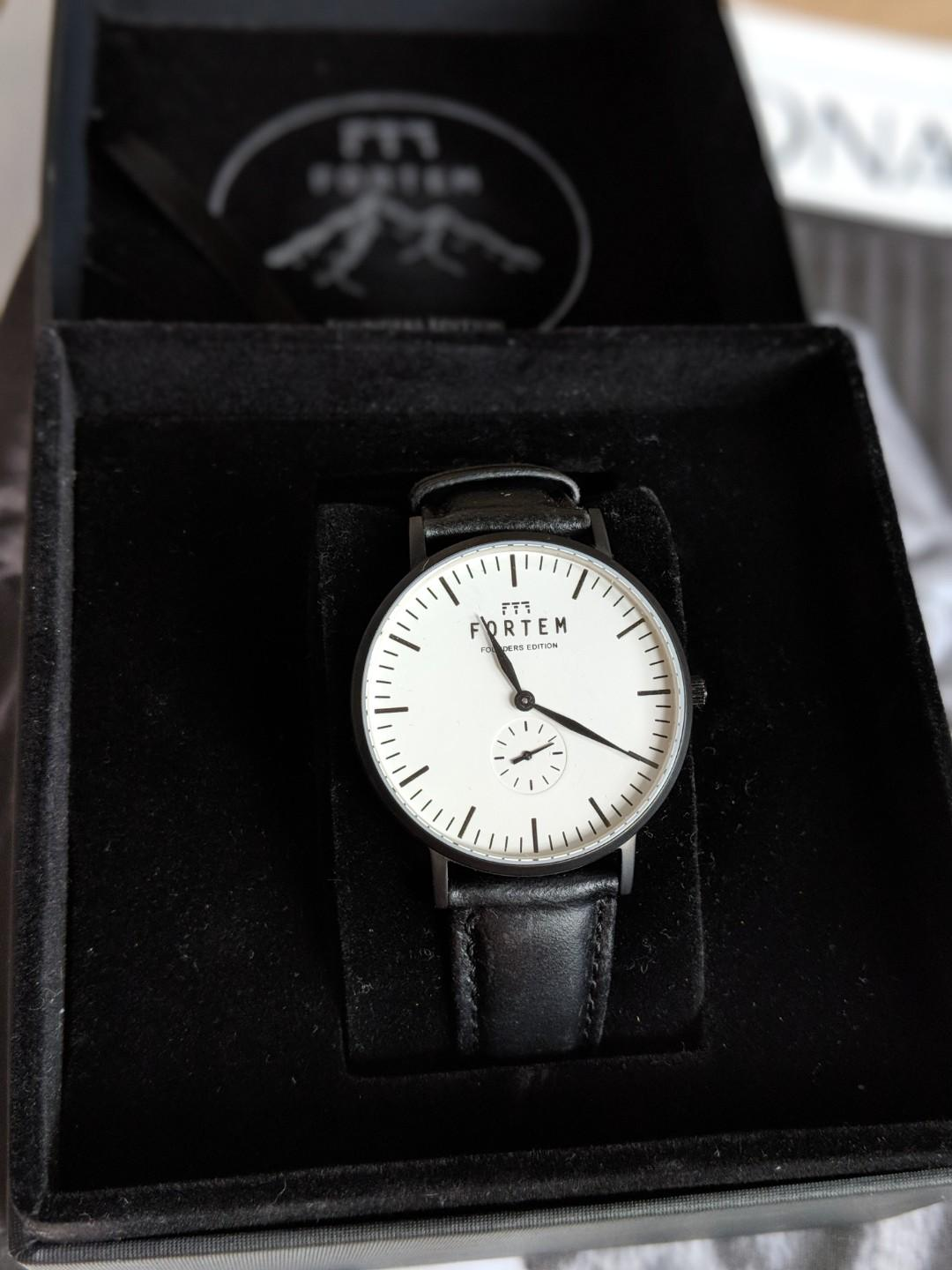 New in Box - Fortem leather watch - unisex