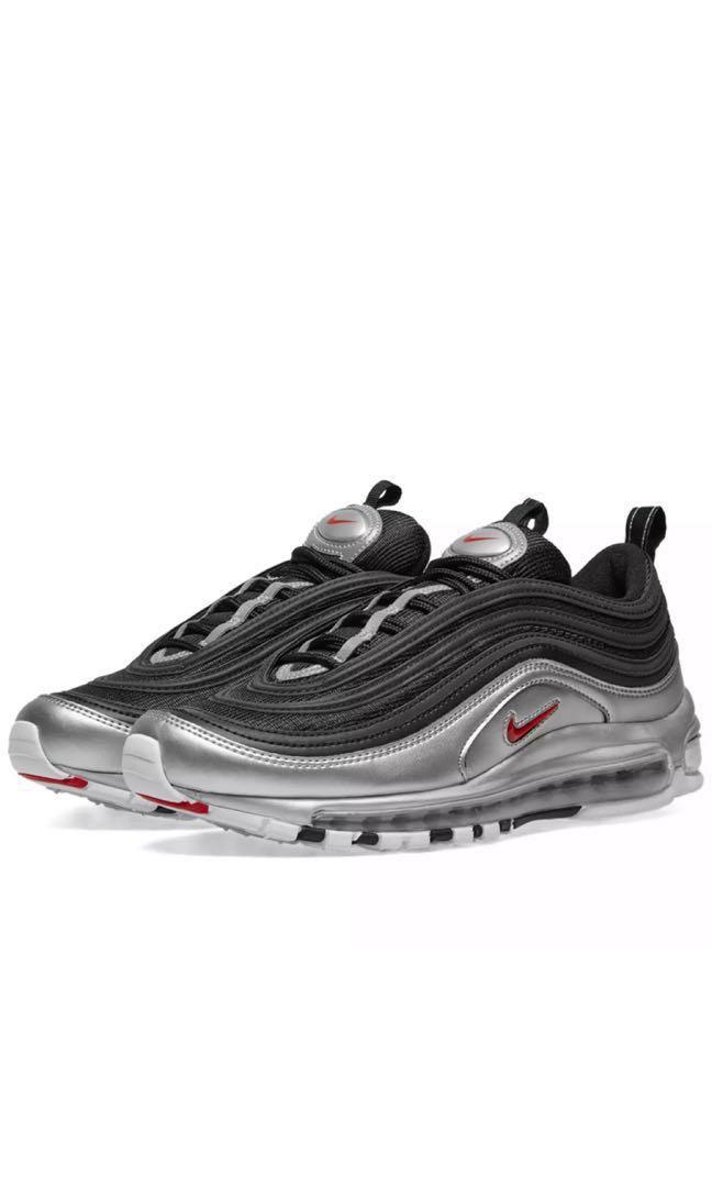 more photos c97f8 89ad0 Nike Air Max 97 QS Black Varsity Red & Silver (All size ...