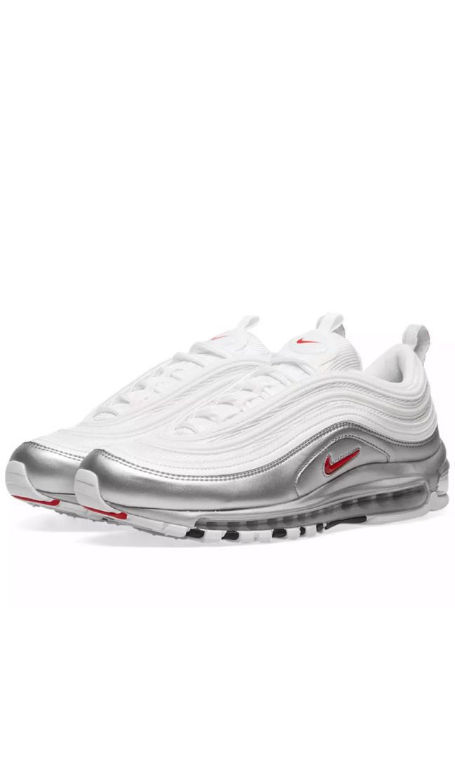 huge selection of ca274 bf2e7 Nike Air Max 97 QS White Varsity Red & Silver