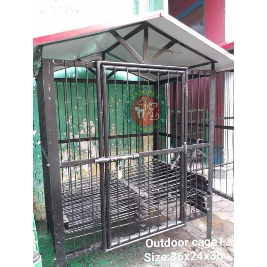Wondrous Outdoor Dog Cage Pets Supplies Pet Accessories On Carousell Interior Design Ideas Ghosoteloinfo
