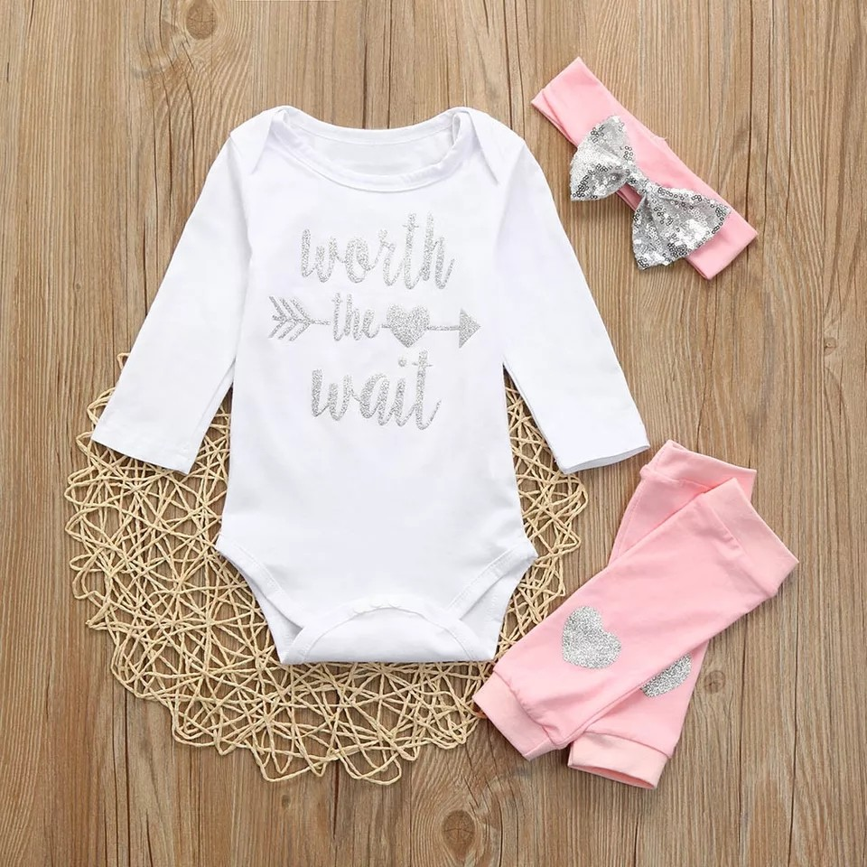 3a4265c7c PO MUQGEW Baby Girls Clothing Sets Newborn Infant Baby Girls Letter ...